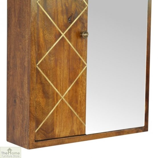 Gold Inlay Mirrored Cabinet_5
