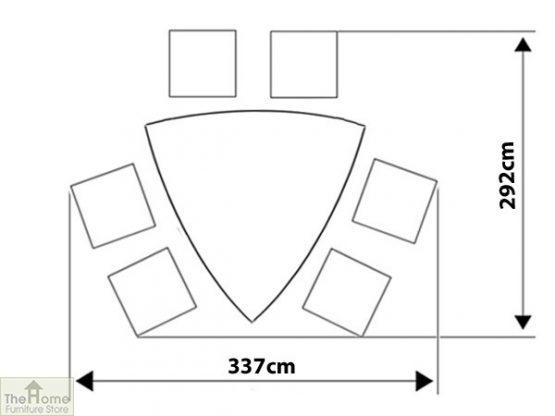 Casamoré Corfu Woodash 6 Seater Triangular Dining Set_15