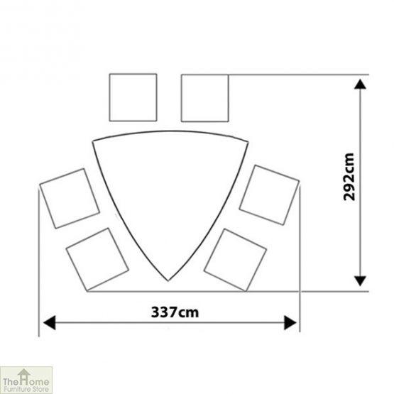 Casamoré Corfu Woodash 6 Seater Triangular Dining Set_6