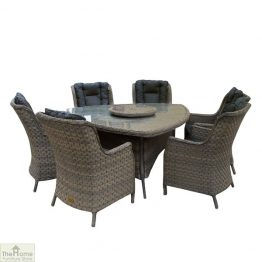Casamoré Corfu Woodash 6 Seater Triangular Dining Set