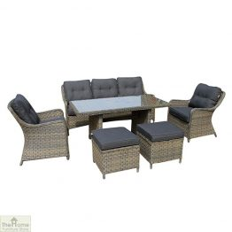 Casamoré Corfu Woodash Rectangular Sofa Dining Set_1