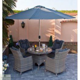 Casamoré Corfu Woodash 4 Seater Round Dining Set