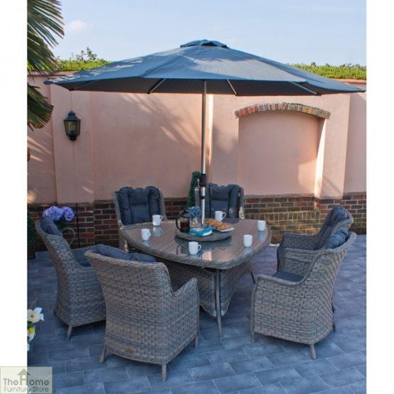 Casamoré Corfu Woodash 6 Seater Triangular Dining Set_2