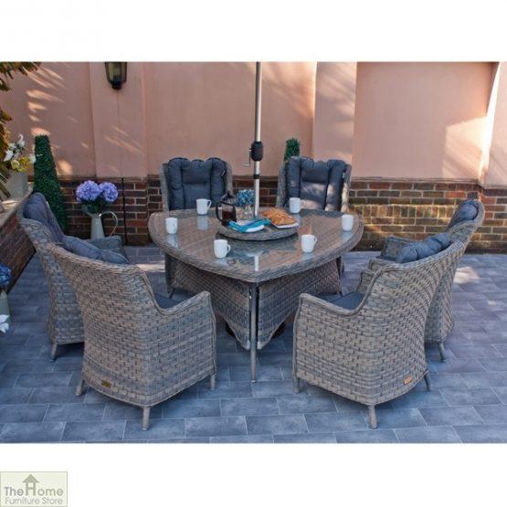Casamoré Corfu Woodash 6 Seater Triangular Dining Set_4