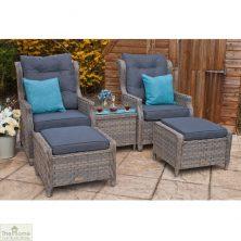 Grey Garden Furniture Reclining Armchair Set