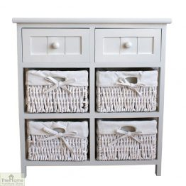 Casamoré Whitehaven 2 Drawer 4 Basket Unit