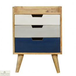 Winchester Navy 3 Drawer Bedside Unit