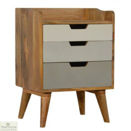 Winchester Grey 3 Drawer Bedside Unit_1
