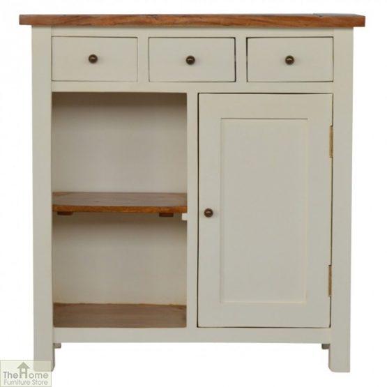 Woodbridge 3 Drawer 2 Shelf Sideboard
