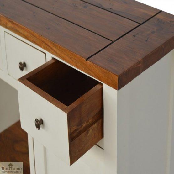 Woodbridge 3 Drawer 2 Shelf Sideboard_4