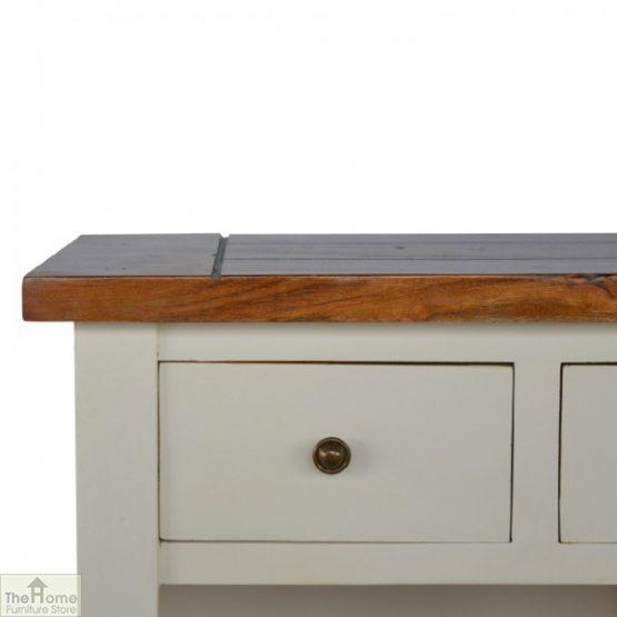 Woodbridge 3 Drawer 2 Shelf Sideboard_5