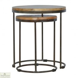 Iron Base 2 Nesting Table Set
