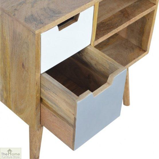 Winchester Grey 2 Drawer 2 Shelf Cabinet_5