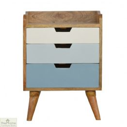 Winchester Blue 3 Drawer Bedside Unit