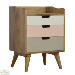 Winchester Pink 3 Drawer Bedside Unit_1