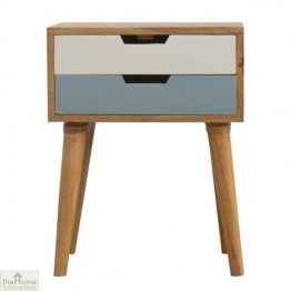 Winchester Blue 2 Drawer Bedside Unit