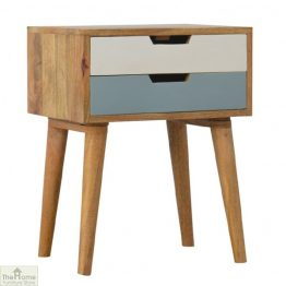 Winchester Blue 2 Drawer Bedside Table_1
