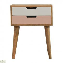 Winchester Pink 2 Drawer Bedside Unit