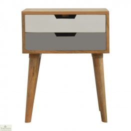 Winchester Grey 2 Drawer Bedside Unit