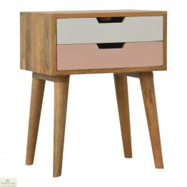 Winchester Pink 2 Drawer Bedside Unit_1