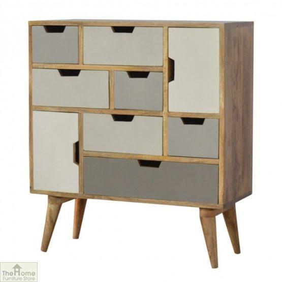 Winchester Grey 7 Drawer 2 Door Cabinet_2