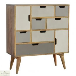 Winchester Grey 7 Drawer 2 Door Cabinet_1