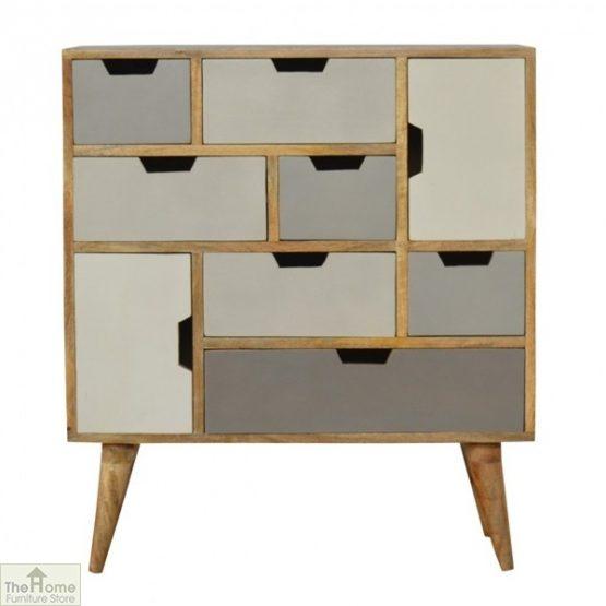 Winchester Grey 7 Drawer 2 Door Cabinet