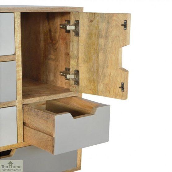 Winchester Grey 7 Drawer 2 Door Cabinet_5