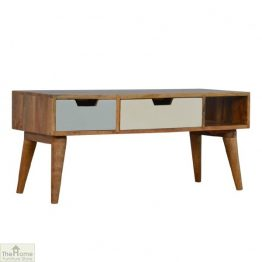 Winchester Green 2 Drawer 1 Shelf TV Unit_1