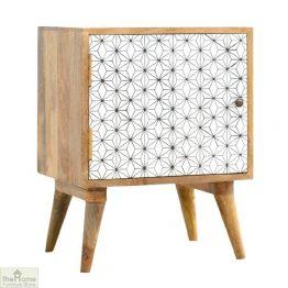 Geometric Print 1 Door Bedside Table_1