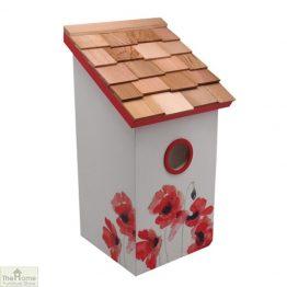Poppy Printed Saltbox Bird House