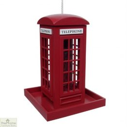 Red Telephone Box Bird Feeder