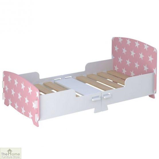 Pink Star Junior Toddler Bed