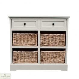 Casamoré Gloucester 2 Drawer 4 Basket Unit