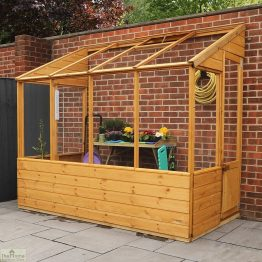 8 x 4 Evesham Lean-to Greenhouse_1