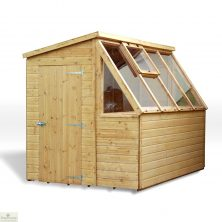 8 x 6 Wooden Potting Shed Greenhouse