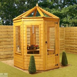 6 x 6 Octagonal Wooden Greenhouse_1