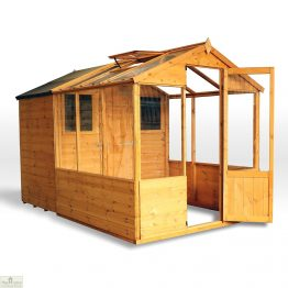 10 x 6 Combi Wooden Greenhouse Shed