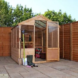 8 x 6 Evesham Wooden Greenhouse_1