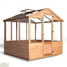 8 x 6 Evesham Wooden Greenhouse