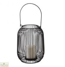 Black Cage Lantern Candle Holder
