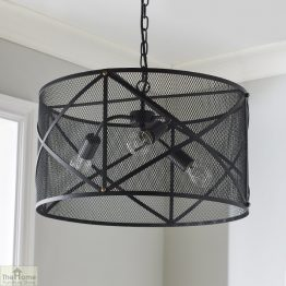 Industrial Black Ceiling Pendant Light_1