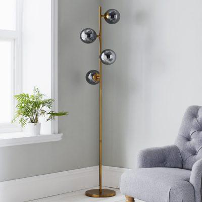 Four Sphere Gold Floor Lamp_1