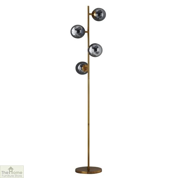 Four Sphere Gold Floor Lamp