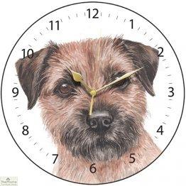 Border Terrier Dog Print Wall Clock
