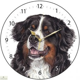 Bernese Mountain Dog Print Wall Clock