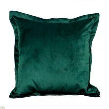 Green Square Velvet Cushion Cover