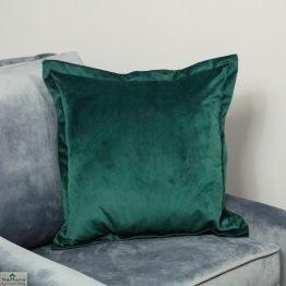 Green Square Velvet Cushion Cover_1