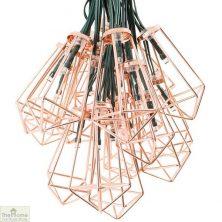 Solar Copper Lantern String Lights