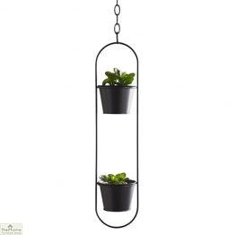 Small Black Hanging Plant Holder